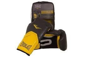 kit boxe/muay thai pro style amarela luva+band+bucal simples