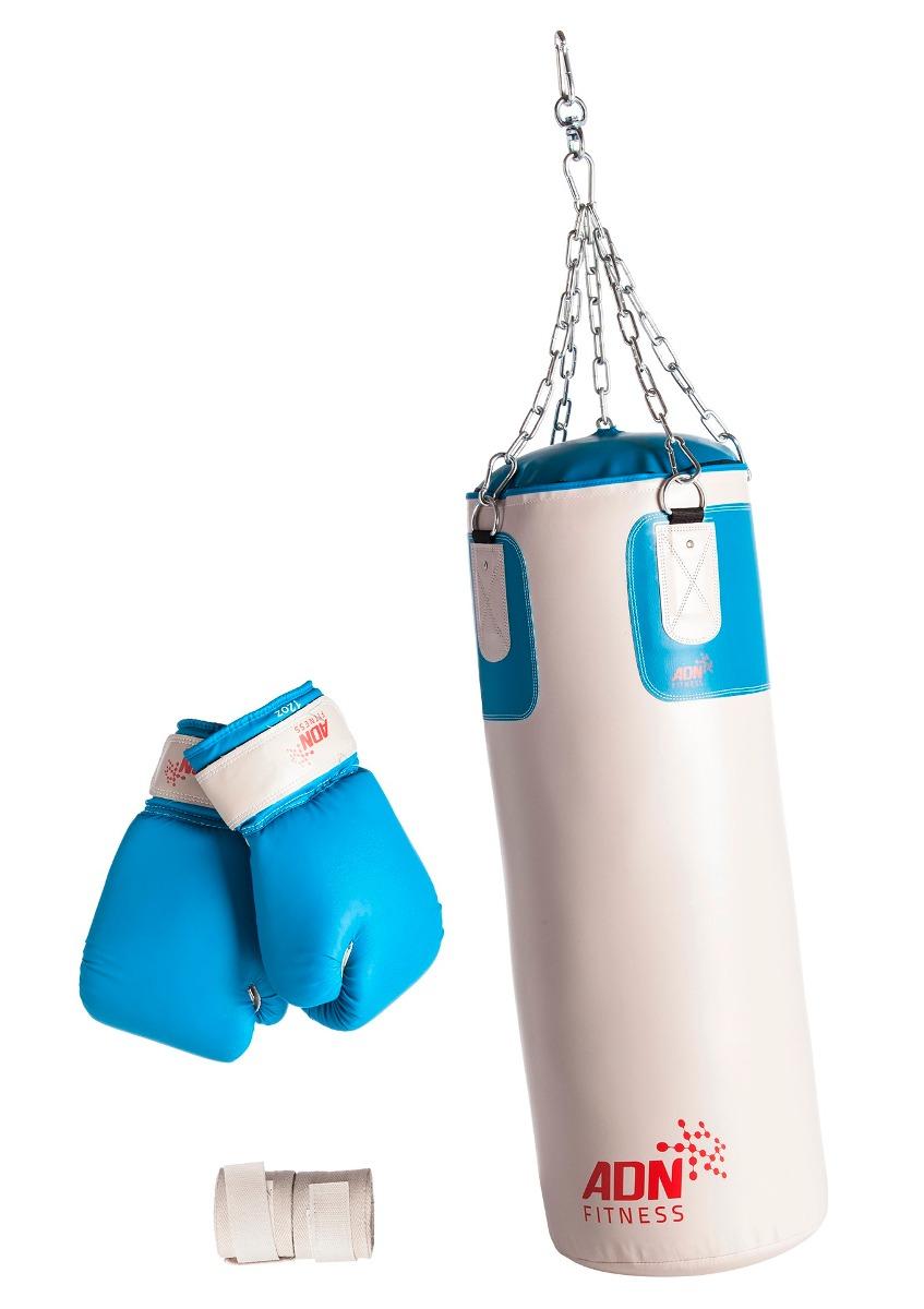 Bolsa Cadenas Relleno Guantes Vendas Boxeo Kit Adn Fitness vN8y0wnmO