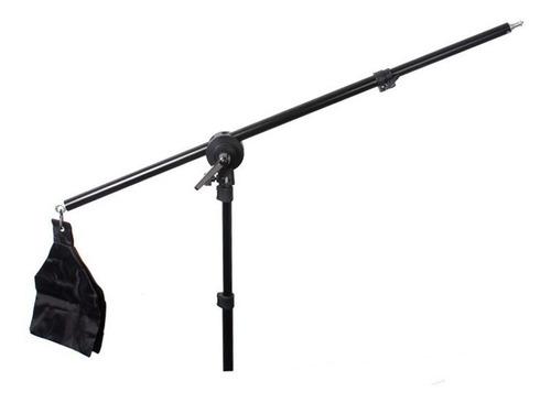 kit braço multifuncional boom arm girafa + tripe reforçado