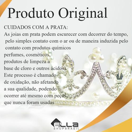 kit brincos prata 925 zirconia redondo p/ 3 furos 2mm,3mm,4m