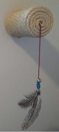kit brinquedo com 3 postes arranhador de parede para gatos