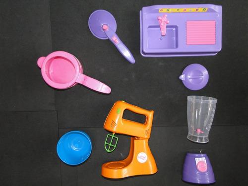 kit brinquedo  panela pressão liquidificador batedeira pia