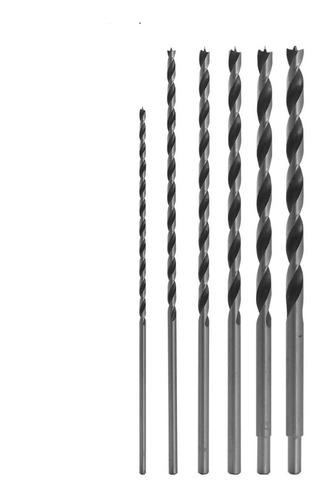 kit broca mourão madeira longa 6mm x 280mm (01 unidade)