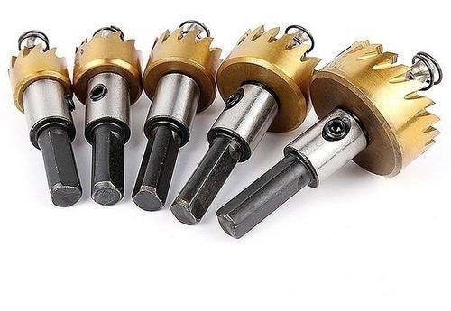 kit brocas 5 serra copo 16/18,5/20/25/30mm + 10 diamantadas