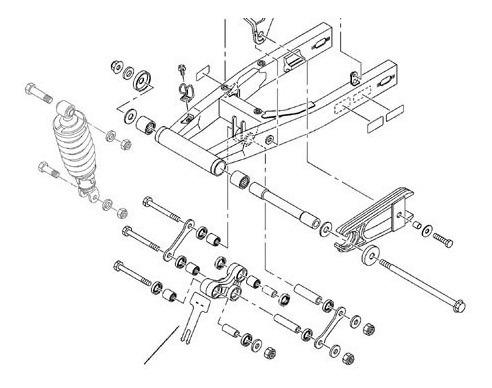 kit buchas pro link e quadro elastico yamaha ttr230