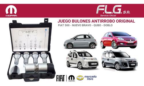 kit bulones antirobo original fiat 500 lounge 12/15