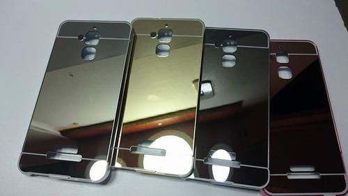 kit bumper aluminio asus zenfone 3 max zc520tl + templado 3d