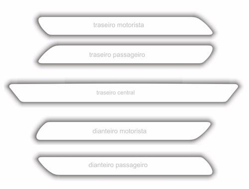 kit bumper protetor parachoque transparente i30 tida 5 pçs