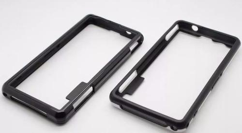 kit bumper + vidrio frontal posterior sony xperia z1 compact