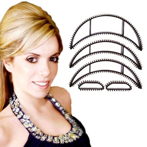 kit bumpits com 5 peças para dar volume ao cabelo topete