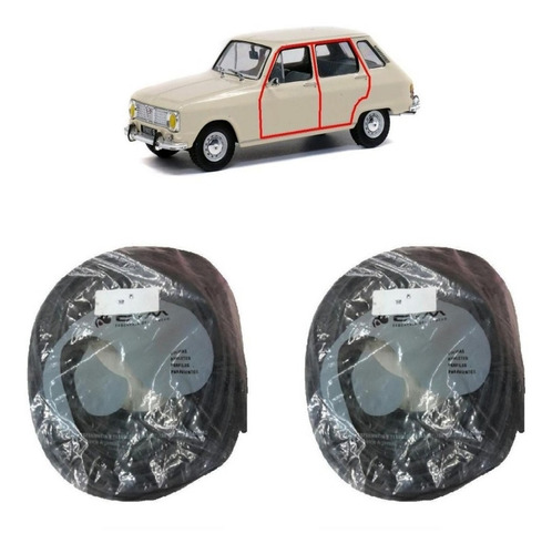 kit burlete de puerta renault 6 ( precio x 4 puertas )