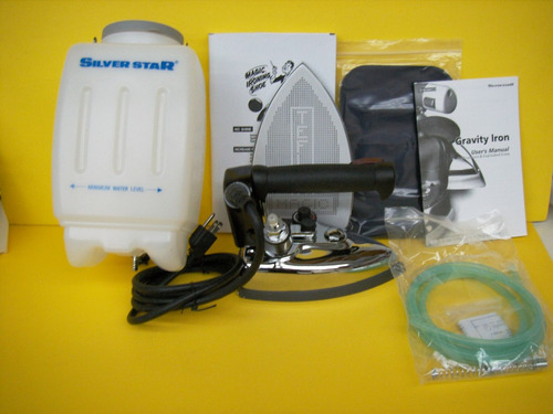 kit  burro de planchar c brazo y plancha de vapor silverstar