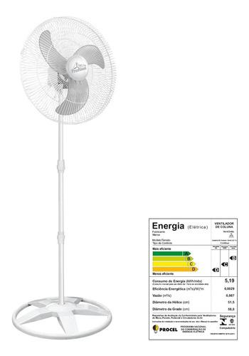 kit c/ 02 ventiladores osc. de coluna preto 60cm premium biv