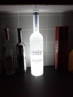 kit c/ 05 base led garrafa adesivo cores casamento bar