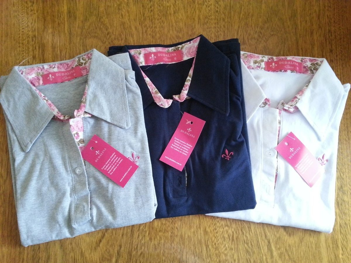 7fa2ac162a255 Kit C  05 Camisas Polo Dudalina Feminina Frete Barato!!! - R  184