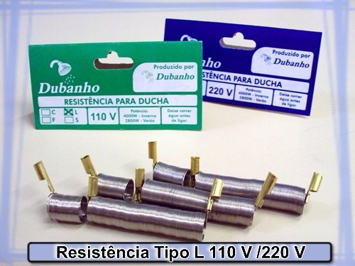 kit c/ 05 resistências maxi banho lorenzetti 5400w 220v