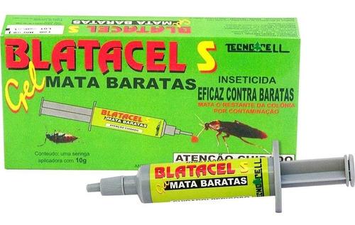 kit c/ 10 anti inseticida mata barata em gel blatacel 10g