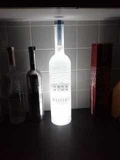 kit c/ 10 base led garrafa adesivo cores casamento bar