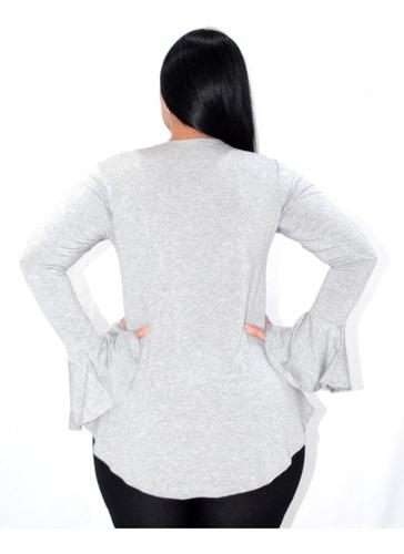 kit c/ 10 blusas feminina manga longa sino plus size atacado