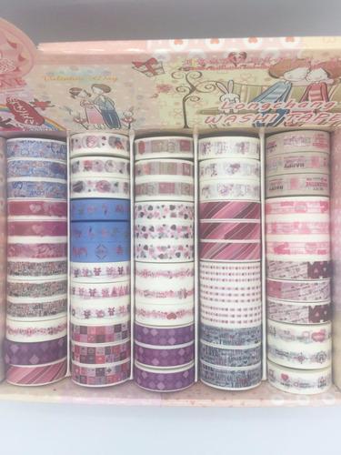 kit c/ 10 fitas adesivas decorativas washitape scrapbook 10m
