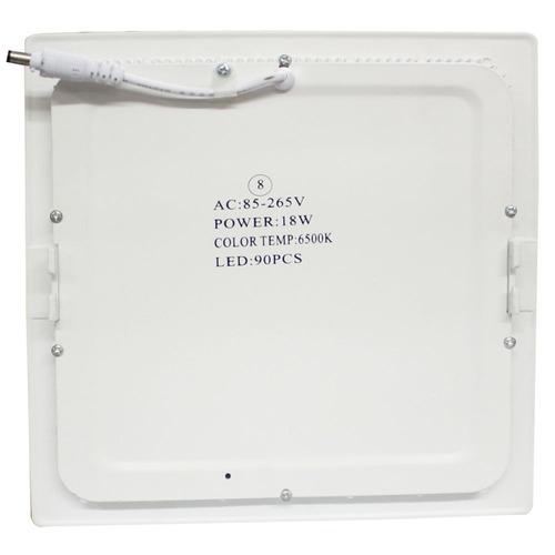 kit c/ 10 painel led 18w p/ embutir em forros de gesso