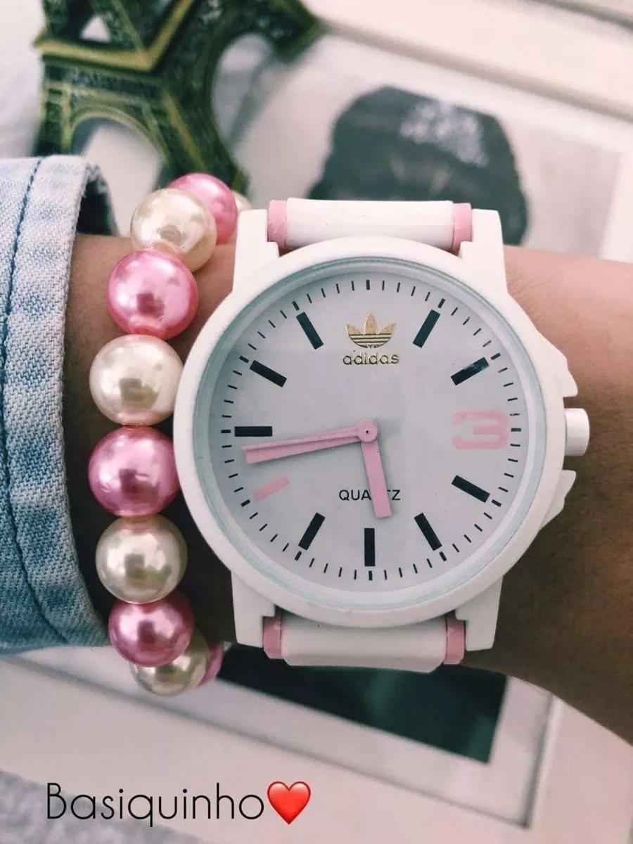 fe0767961d8 Kit C  10 Relógios adidas + Caixinhas + Brinde  10 Pulseiras - R ...