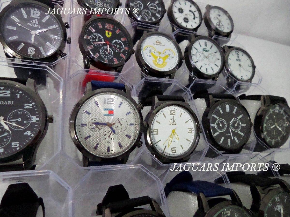 5e33f38c7ad Kit C  10 Relógios Masculinos + Caixinhas Atacado Revenda - R  130 ...