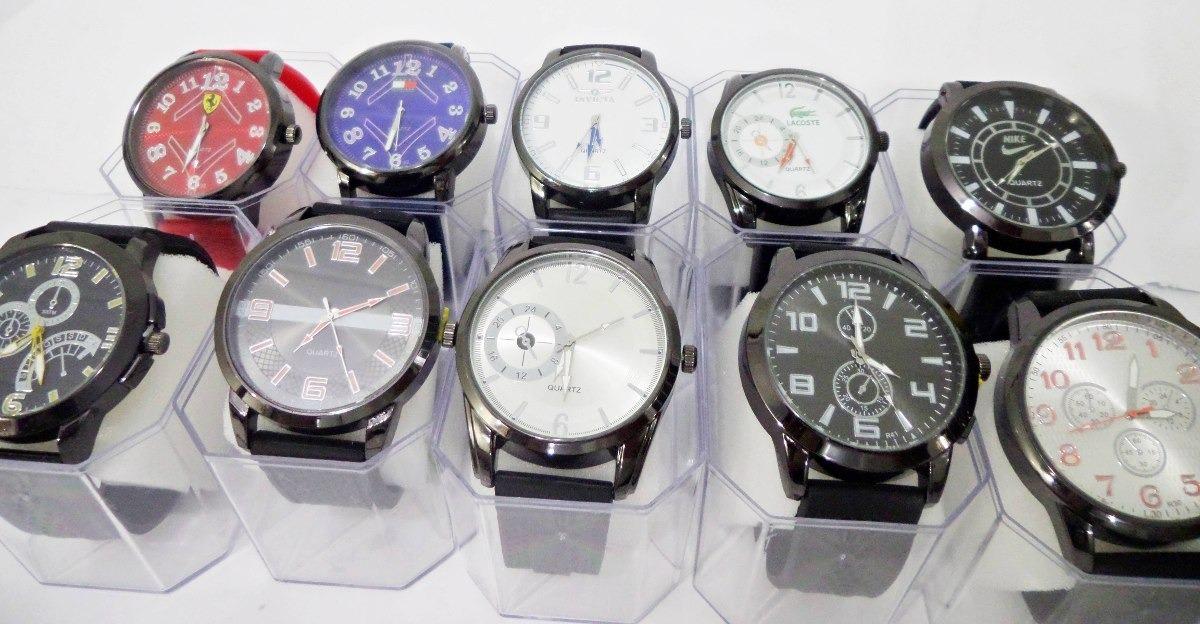 71771a29c09 kit c  10 relógios masculinos de silicone atacado revenda. Carregando zoom.