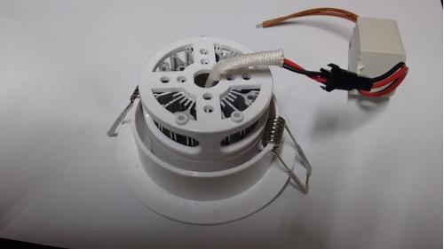 kit c/ 10 spot super led 3w teto direcional alumínio bivolt