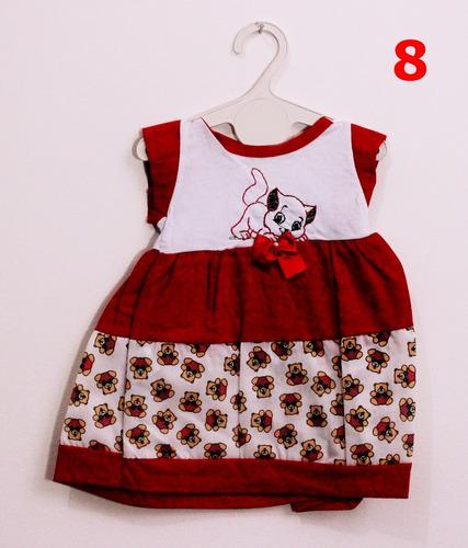 kit c/ 10 vestidos infantis feminino 3-6 meses frete grátis