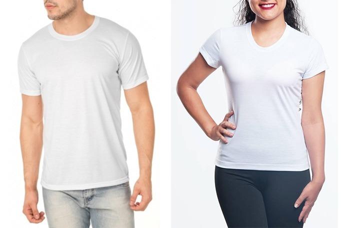 Kit C  100 Camisetas Branca Sublimação Lisa 100% Poliéster - R  969 ... 78fc4f0319807