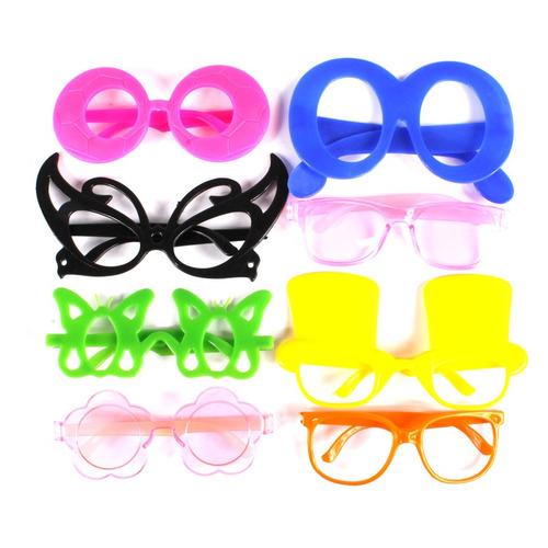 kit c/ 100 óculos + 100 tiaras coloridos + frete grátis
