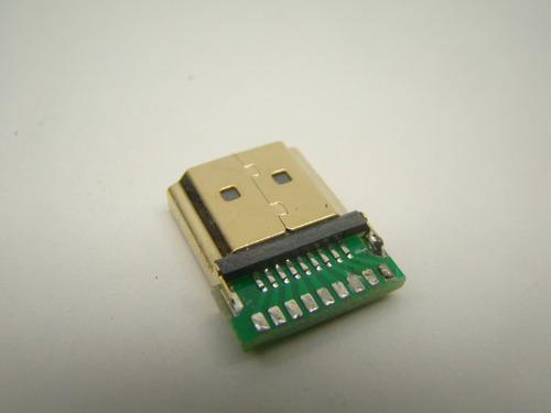 kit c/ 1000 conectores hdmi macho gold solda placa reforçado
