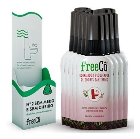 kit c/ 12 freecô bloqueador odores sanitários nº 2 sem medo