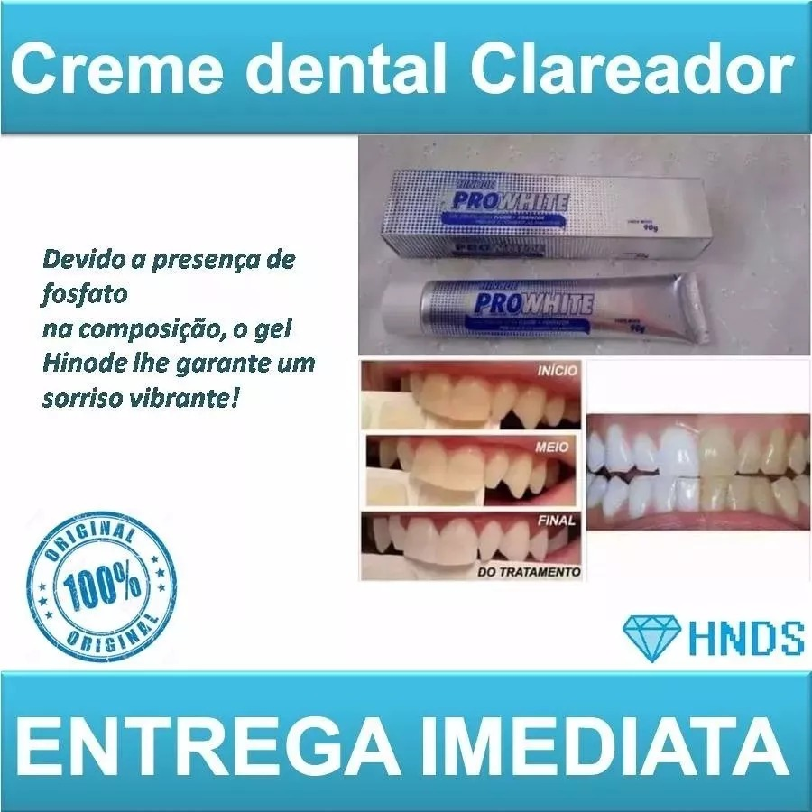 Kit C 12 Gel Dental Pasta Dente Clareador Hinode Pro White R 89