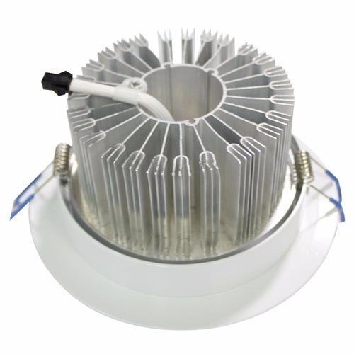 kit c/ 12 lampada led 12w p/ forro gesso embutir