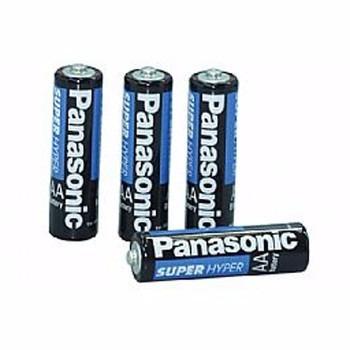 kit c/ 12 pilhas panasonic aa comum p/ lanternas, rádio