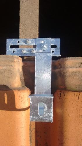 kit c/ 12 suportes p/ telhas cerâmica