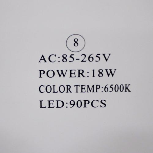 kit c/ 15 painel led 18w p/ embutir em forros de gesso