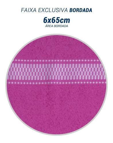 kit c/ 15 toalhas de banho - 65cm x 1,25m (270gm²) atacado