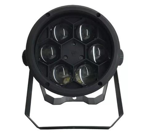 kit c/ 2 bee eye super refletor 6x12w rgbw dmx somos loja