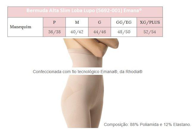 5294eaa7c Kit C  2 Bermuda Lupo Loba Slim Modelador Fio Emana Promoção - R  74 ...