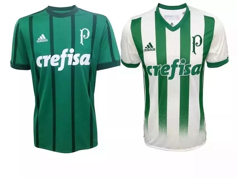 3b7e8c094e Kit C  2 Blusas Mancha Verde Camisetas Palmeiras Oficial - R  154