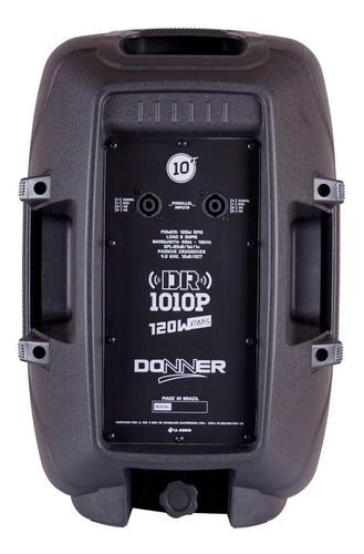kit c/ 2 caixas som passiva 10 - donner dr 1010 nca