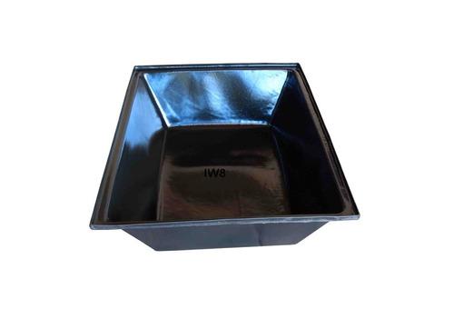 kit c/ 2 caixote plástico massa pedreiro concreto 150 litros