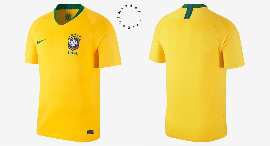 adfa99f26e Kit C  2 Camisa Seleção Brasileira Oficial Brasil Copa 2018 - R  169 ...