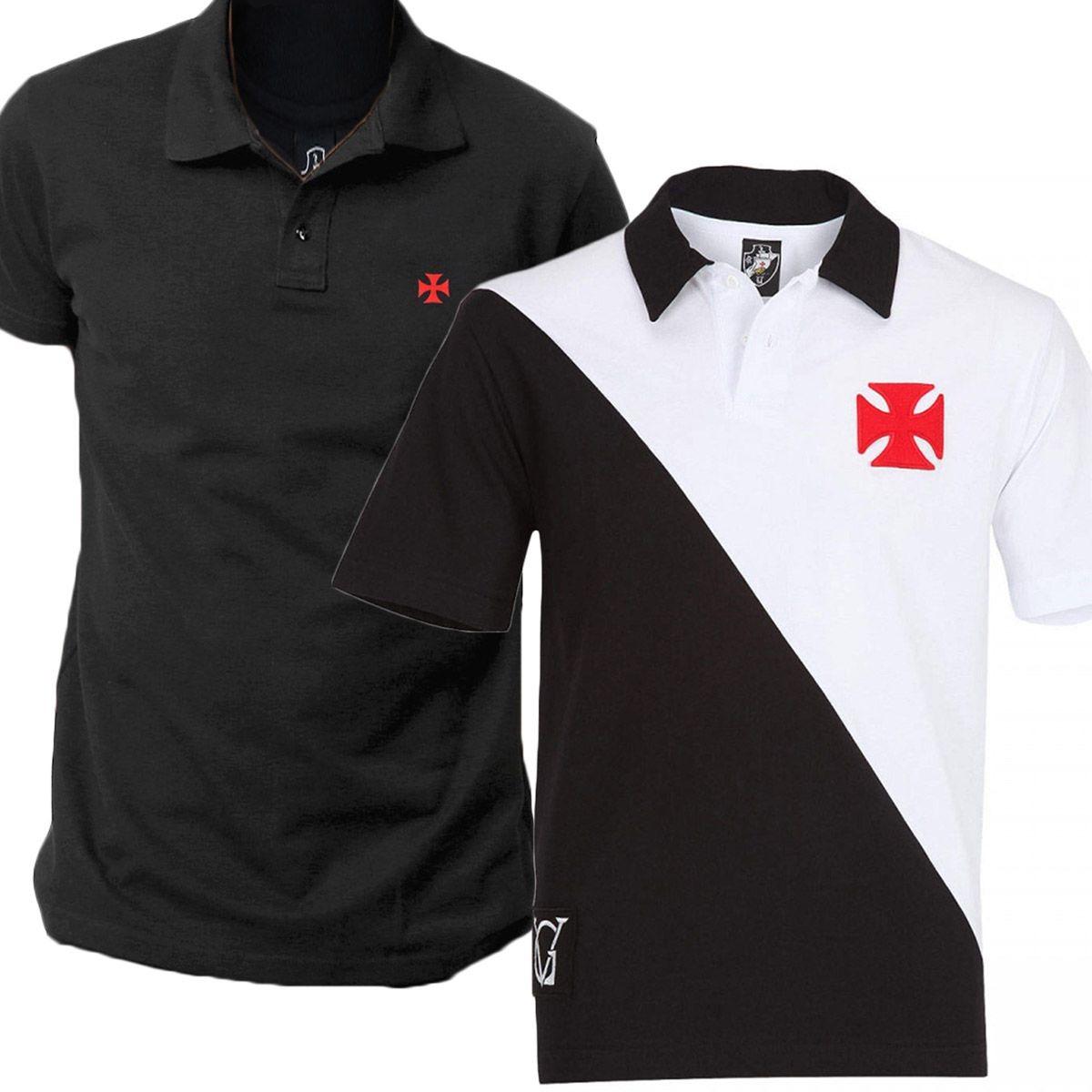 49bdef2441b1c Kit C  2 Camisas Polo Vasco Da Gama Piquet Oficial C nf - R  85