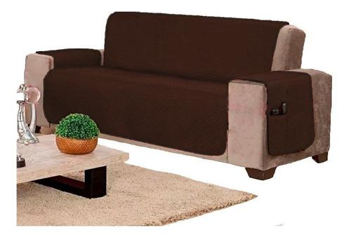 kit c/ 2 capas protetor sofá  3 lugares e 1 prot poltrona