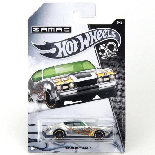kit c/ 2 carrinho hot wheels zamac 68 olds 442 frn28 mattel