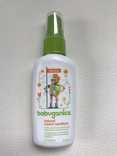 kit c/ 2 repelente infantil 100% natural babyganics